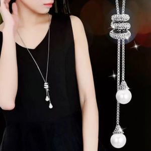 Jewelry - Fashion Crystal Rhinestone Tassel Plated LongChain